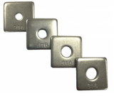 zinc plated metal steel square washer